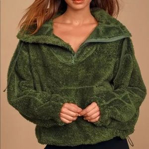 Free People Big Sky Faux Sherling Pullover NWT